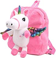 Cartoon Backpack for Kids, Cute Toddler Backpack Snack Travel Bag Preschool Shoulder Bag, Plush Animal Backpac