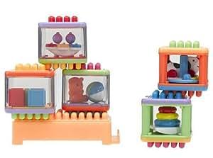 Fisher Price - Jouet Premier age - Cubes de construction - Peek a blocks
