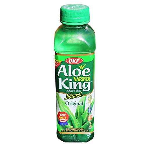 OKF - Aloe Vera Getränk - Aloe Vera King Original (Traube) - 12er Pack (12 x 500ml) -
