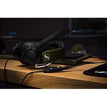 Sennheiser GSP 550 Cuffie Gaming, Nero/Verde