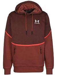 Under Armour Rival - Camiseta de Forro Polar para Hombre, Not Applicable, Rival Fleece Amp HD, Hombre, Color Cinna Red / Onyx Blanco (688), tamaño Small