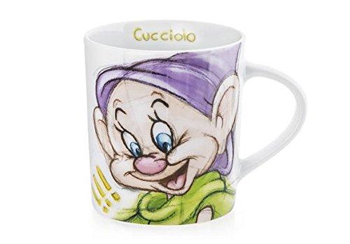 H&H Disney Nains Sketch Tasse Mug, Motif aléatoire, 340 CC, Porcelaine, Multicolore