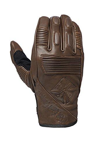 West Coast Choppers Handschuhe BFU Leather Rinding Glove, Größe:XL, Farbe:Tobacco Brown (Leder Herren Bike Handschuh)