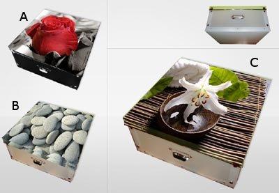 Boîte de rangement décorée Modèle : A Boîte de rangement décorée Modèle : A