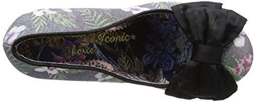Irregular Choice - Ban Joe, Scarpe col Tacco Donna Nero (Black Floral)