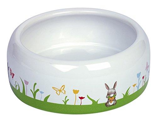 "Nobby Nager Keramik-Futtertrog \""Flower\"" weiß/bunt 500 ml"