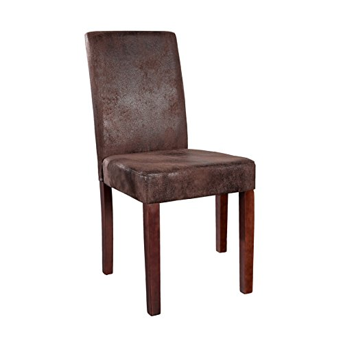 Invicta Interior Edler Esszimmerstuhl Kolonialstil GENUA cigar - braun Esszimmer Stuhl Konferenzstuhl Vintage Look Beine aus Massivholz kolonial