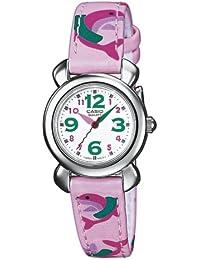 Casio LTP-1287B-7B6EF - Reloj infantil de cuarzo con correa textil rosa