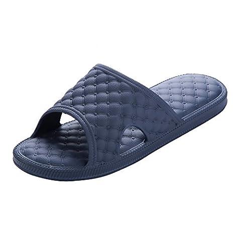 NEOKER Bath Femmes Homme Flat Pantoufles Summer Sandals Pantoufles Indoor&Outdoor Bleu 44