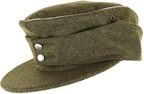 Erel Replik WW2 Deutsch M43 Offiziere Kappe (Feldgrau, 56 cm) (Ww2 Deutsch Hat)