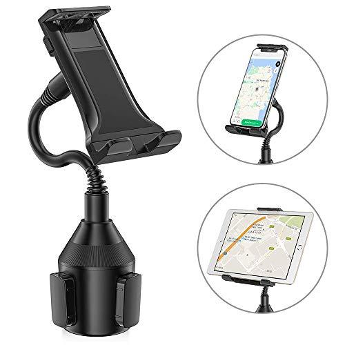 SEEKONE Universal Handyhalterung für KFZ Getränkehalter, Handy KFZ Halterungen Handyhalter fürs Auto Cup Halter, Autohalterung für iPad, iPod, iPhone, Samsung Galaxy, GPS und mehr Smartphone
