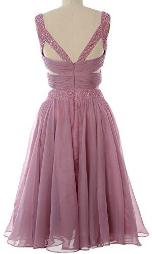 MACloth Women 2 Piece Prom Homecoming Dress Mini Chiffon Formal Evening Dress Turquoise