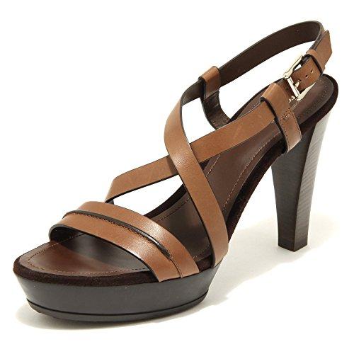2831H sandali donna TOD'S plat gomma fasce incroc scarpe shoes women Cuoio