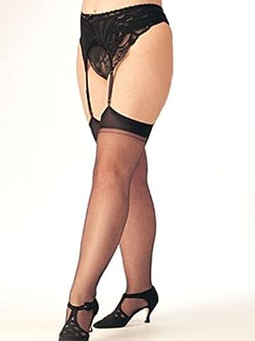 Shirley of Hollywood Nummer X5075One Größe schwarz Sheer Stretch Oberschenkel