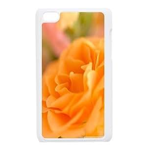 iPod Touch 4Fällen Herren Gelb Rose Bud, Buds Flower iPod Touch 4Fall [weiß]