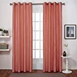 Best Home Fashion 72 Longs - Exclusive Home Curtains Chatra Faux Silk Grommet Top Review