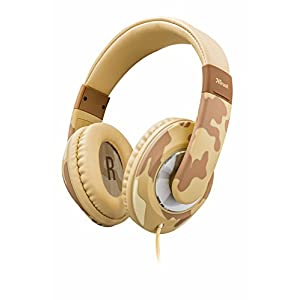 Trust Urban Sonin Kids Headphones, Ear Defenders, Built-In Volume Limitation - Deser Camo