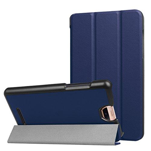 ERLI Acer Iconia Talk S (A1-734) Hülle Case, Ultra Dünn Tri-Fold Smart-Muschel PU Leder Schutzhülle für Acer Iconia Talk S (A1-734) 7.0 Zoll Android Tablet,mit Auto Schlaf/Wach Funktion (Blau)