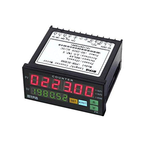 busirde MyPin FH8-6CRNB Digitale Zähler Mini elektronische Länge Batch Meter 1 Preset Relaisausgang Zählwertübertragung -