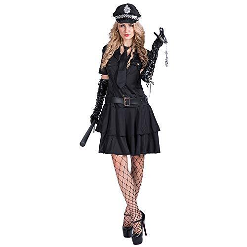 EraSpooky Damen Sexy Polizistin Kostüm Cosplay Halloween Party Karneval Fastnacht Faschingskostüme für - Sexy Halloween Party Kostüm
