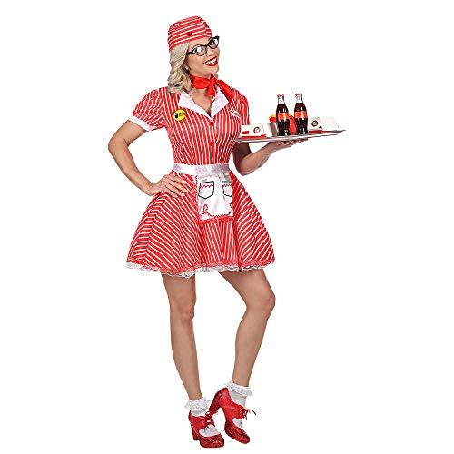 WIDMANN Srl disfraz criada de mujer Adultos, Rojo, wdm48302