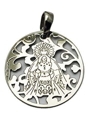 Medalla Virgen de la Macarena en Plata de Ley