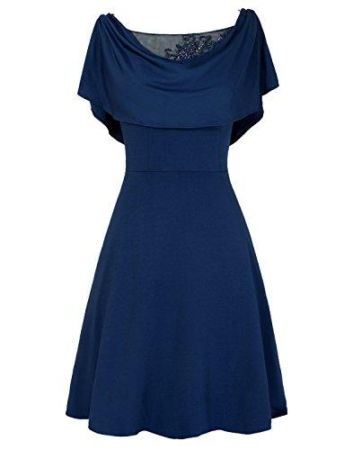 Dresstells, A-ligne robe courte de mère de mariée Blanc
