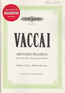 EDITION PETERS VACCAI N. - METODO PRATICO - VOIX MOYENNE + CD