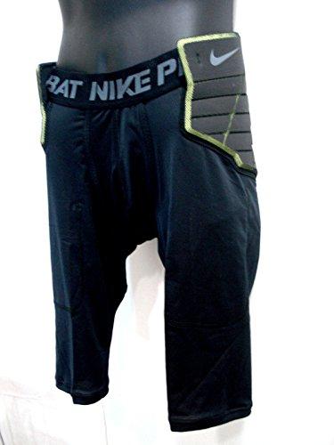 Nike 626419-010schwarz grün Pro Combat Fußball Kompression Shorts Herren Größe XXL (Pro Nike Xxl Combat)