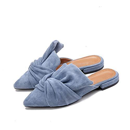 ie Mules Spitze Flache Schuhe Mode Slip on Casual Schuhe ()