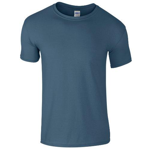 Gildan - Maglietta 100% Cotone - Uomo Blu indigo