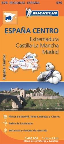 Mapa Regional Extremadura, Castilla la Mancha, Madrid (Carte regionali) por Vv.Aa