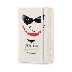 Moleskine Taschenkalender, 12 Monate, Batman, Tageskalender, 2017, Pocket, A6, Hard Cover, weiß