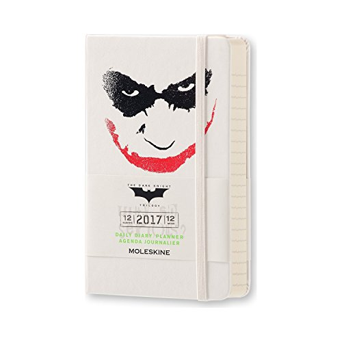 2017 Moleskine Batman Limited Edition White Pocket Daily Diary 12 Month Hard