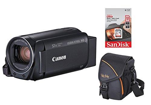 Canon LEGRIA HF-R806 schwarz Full-HD Videokamera / Camcorder Set + 32 GB Speicherkarte + Tasche Zeitraffer HFR806