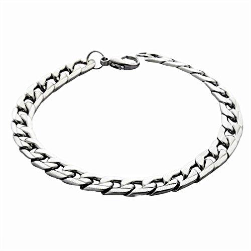 JUNGEN Herren Armband Silber Armbänder Schmuck Handgelenk Poliert Armkette Geschenk für Geburtstag Valentinstag Weihnachten