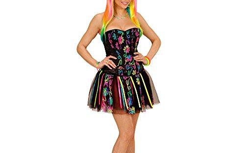 (WIDMANN 49027 - Erwachsenenkostüm Neon Rainbow Fantasy Girl, Korsett und Tütü)