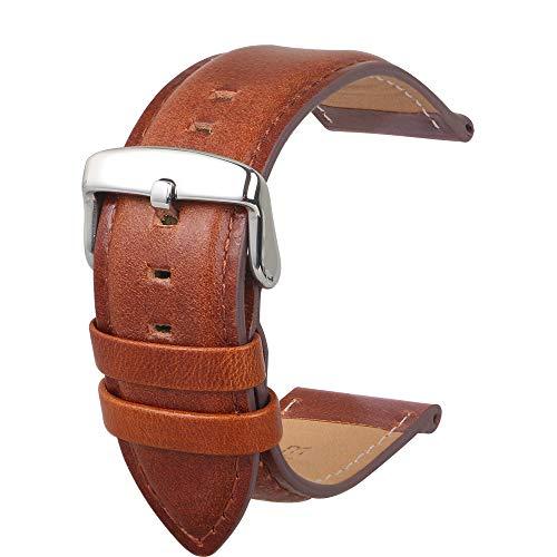 Uhrenarmband Fashion Panerai Herren Leder Ersatz Geeignet Für Traditionelle Uhren Zubehör Oder Sport Fashion Smart Armband Braun20MM