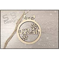 Personalised Bauble|Wood|Tags|Ornaments|Wooden|Cutout|Hanging|Crafts|Embellishments|Tree|Bauble|Craft|DIY|