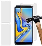 Yayago - Set di 2 pellicole protettive per display in vetro temperato 9H per Samsung Galaxy J6 Plus/Duos, 0,26 mm