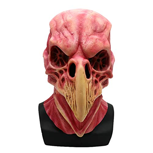 SonMo Scary Horror Blutige Vogel Kopf Maske Kostüm Zubehör für Karneval Halloween ()