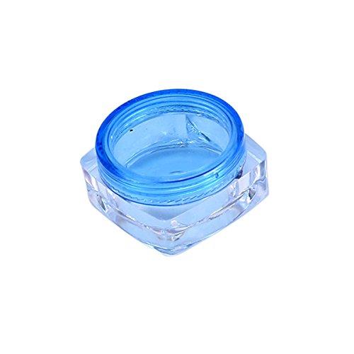 TININNA 25 Pcs 5ml 5 Gramme Pot Contenant en Plastique Vides Boîte Cosmétiquqe Maquillage Stockage Containers Jars pr Fard à Paupières Poudre Crèmes Bleu