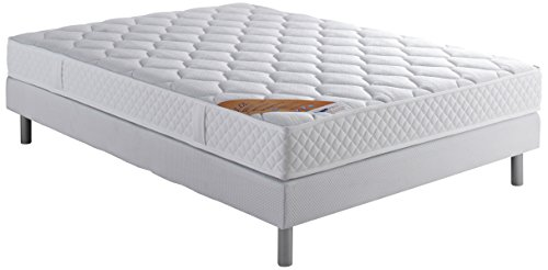 Dunlopillo DunloPrems Lol Ensemble sommier + matelas mousse 28kg/m3 160x200