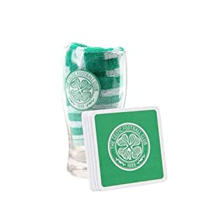 Celtic Glasgow FC SPL Fußball Mini Bar Set Bier Glas Pint Tuch Bierglas Krug