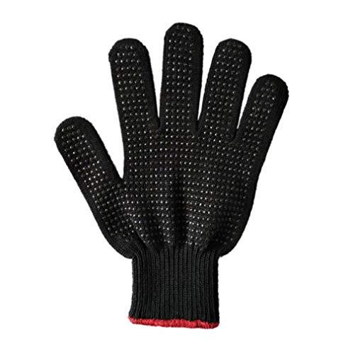 STEAM PANDA Verbrühungssichere Handschuhe Silikonbeständig gegen hohe Temperaturen Ofenhandschuhe 24CM 100% Baumwolle Garn Manschette Elastic Design - Garn Manschette