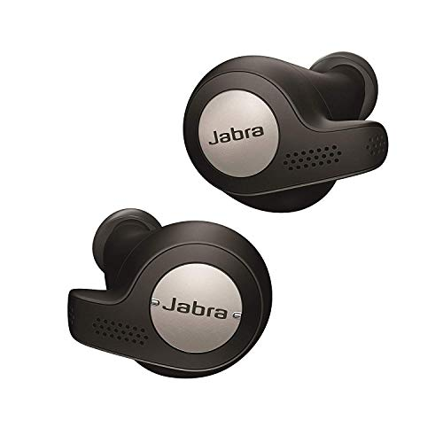 Jabra Elite Active 65t True Wireless Bluetooth Sports Earbuds and Charging Case with Alexa Built-In, Titanium Black