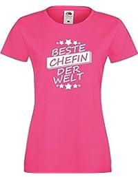 ShirtInStyle Lady T-Shirt Beste CHEFIN der Welt,,viele Farben, Größe XS-XXL