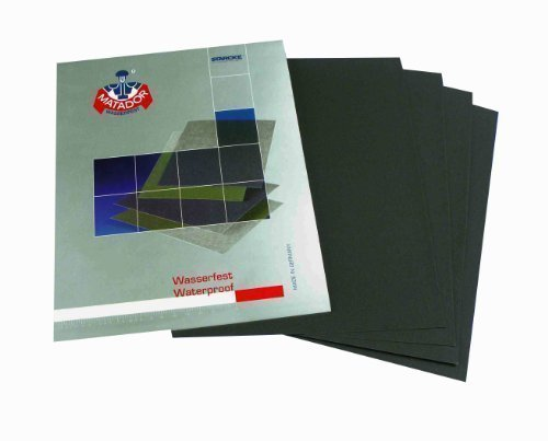 Wet and Dry Sandpaper 1200grit 5 sheets 230 x 280mm Waterproof Paper Highest Quality STARCKE MATADOR
