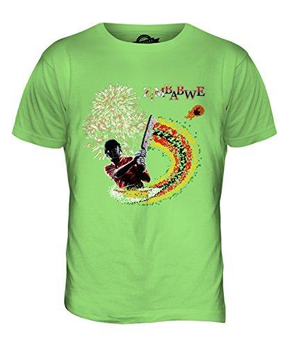 CandyMix Zimbabwe Cricket T-Shirt da Uomo Maglietta Verde Lime