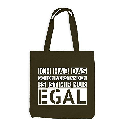 Jutebeutel - Ich hab das schon verstanden - EGAL - Fun Style Design Olive